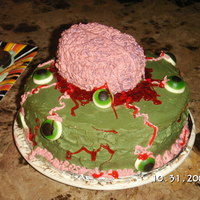 Brain Cake My first Holloween cake.