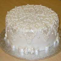 Lace Cake  Using a gorgeous mold I bought from Earlene Moore at the ICES conference I created this cake based on her design. I Used the mold in i ts...