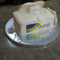 Baby Wipes Cake   Cake for a friend who just had a baby