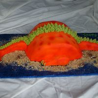 Dinosaur / Dragon Cake OK, so lady orders a Stegosaurus cake....calles 2 days before cake pick up and says changed it to a dragon...? Um OK, same design left the...