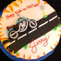 Motorcycle Birthday Oh man my stupid writing ruined this cake, I SO bought tappits after this !! Loved the details. GP & Fondant cycle, accents &...