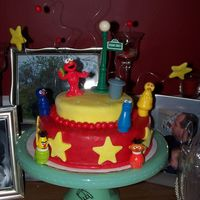 My Daughter's 3Rd Birthday   All she wanted was red with yellow stars. Not a color combo I would have picked, but she loved it. Thanks for looking!
