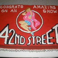 """42Nd Street"" Cast Party Cake Celebrated the end of a month run of the musical ""42nd Street."""
