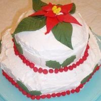 A Very Merry Christmas Birthday A Chocolate cake flavored with Starbucks liquer. The tiers were frosted with a sweet fluffy meringue frosting (tasted like a fantastic...