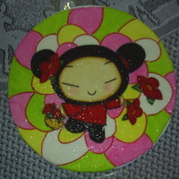 Pucca This is the top of the cake, i always paint the caracter first before i make the final cake