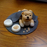 English Bulldog Fondant bulldog