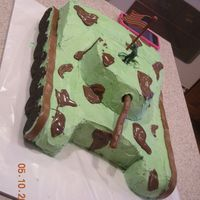 Army Tank Army Tank w/ Oreo and Tootie Rolls for the wheel and tracks. melted chocolate chips for the camo. the Tootie Roll cannon, was too heavy and...