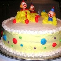 Clown Cake Wilton Course 1, Class 3 Clown CakeFrench Vanilla Cake, Raspberry filling w/class buttercream icing