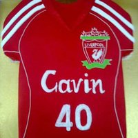 Liverpool Fc Jersey A Liverpool FC Jersey.. All choc mud with choc fudge filling