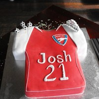 Jersey Cake Arsenal Jersey Cake for a 21st