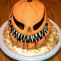 Jackolantern For a raffle at work. Chocolate with buttercream covered in mmf.