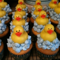 Splish Splash! Cupcakes I made for my sis-in-laws baby shower. Got the idea here on Cake Central! LOVE this site. My grandpa thought I made the rubber...