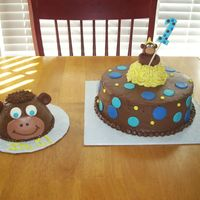 Little Monkey First Birthday   Chocolate buttercream and fondant accent- Thanks for all the CC inspiration.