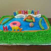 Pool Party Cake Eighth Birthday Cake