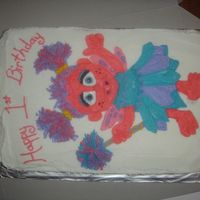 Abby Cadabby My first freehand character cake. I spent so much time on the drawing that I was too burnt out to do a border. She didn't seem to mind...