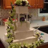 Square Wedding Cake This was my first wedding cake and I was very excited to be asked to make something so big and special for my cousin. The cake is a white...