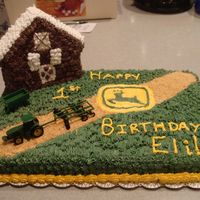 John Deere Farm This is a yellow cake with whipped icing. This little boy loves john deere and I thought this was a good way to including farming and John...