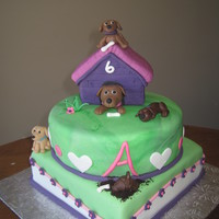 Puppy Cake  birthday cake for my daughter turning 6 from Jeana77 I was trying to get ideas searching through CC and my daughter saw the puppy digging...
