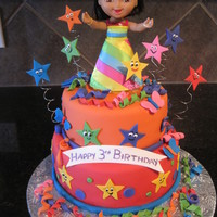 Dora Party Cake For a sweet girl who adores Dora......inspired by qtkaylassweets Dora cake....the birthday girl loved it!! I was hoping my cricut cake...