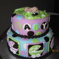 Best Friends Shower Cake  design totally inspired by Kassie11...thank you for making such a cute cake..when my girlfriend saw it she wanted one just like it...so I...
