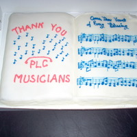 Music Sunday 2009 The hymn was the anthem of the day. The icing is rolled buttercream.