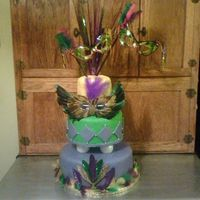 Mardi Gras One of my favorite cakes that I have made!!! This cake was for one of my good friends daughters 14th birthday!! They absolutely loved it....