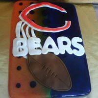 "Chicago Bears Okay this cake was a nightmare for me :) This is the first cake I ""sold"" to anyone, as well as the first cake that was a replica..."