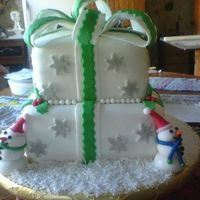 Christmas Present I loved, loved, loved this cake. I made this for my brothers company Christmas cake as a surprise. It was a huge hit. It was fun to make...