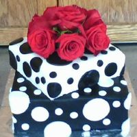 Polka Dots Has anyone seen the movie......Because I Said So??? That movie is where my inspiration for this cake came from. This is the wedding cake at...