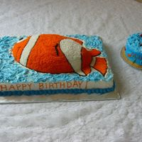 Fish Cake For 2 Year Old  This is the cake and smash cake I made for my niece. It is my grandmother's pound cake recipe and buttercream icing. My niece loves...