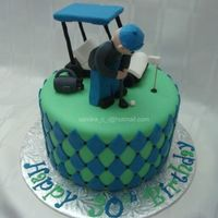 "Golf Cake 8"" Vanilla cake with Chocolate Bavarian filling. Inspired by CakeInfatuation...thank you:)"