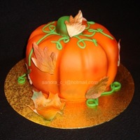 "Pumpkin Cake Carved from an 8"" round. This was fun to make:)"