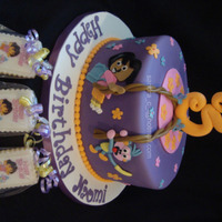 Dora And Boots   Dora and Boots Cake and Cookies. Original Cake design by KimmieJ, thanks for the inspiration:)