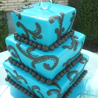 Tiffany This cake was inspired by Bayshore Cakes! She does awesome work! The bride brought me her exact picture, but we gave it a little bit...