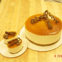 White Chocolate Mousse Cake   White chocolate mousse cake with coffee glaze
