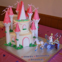 Castle Cake Castle cake made with the Wilton Castle Kit. Had to modify mine a bit, as I didn't have enough room on my bottom tier for the gable....