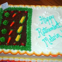 Sheet Cake Retirement cake for a fellow who loves to garden.