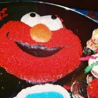Another Cake For My Grandson's 1St Birthday Carlitos Elmo's Face