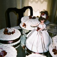 Quinceã±Era i made the doll myself...out of fondat