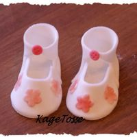 Babybooties Made of sugarpaste