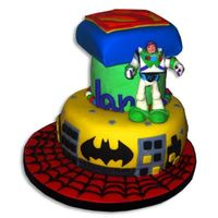Is Buzzlightyear A Superhero? Birthday cake for my 4 year old, who just couldn't decide on one Superhero.Inspiration and ideas from other cakecentral members. Three...