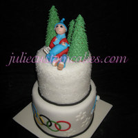 Winter Cake I have to make a cake for the winter wonderland and a grand mother to be. So here is my design