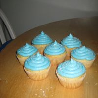 Blue Cupcakes Just for fun, cupcakes with blue BC and sprinkles!
