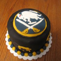 Buffalo Sabres   All fondant... this one took a lot of work.
