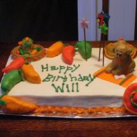 Cakes_047.jpg  This was for my nephew who asked for a chihuahua and a sombrero cake. We had a mexican fiesta party. The peppers, dog, sombreros are all...