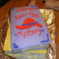 "Cakes_042.jpg  My first attempt at books, This was for my grandma, an avid reader. The second book was titled ""Death By Sugar"" written on the..."