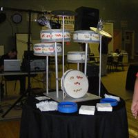 "Drum Set  This was for an 11 year olds birthday. The cakes were 10"" yellow with dulce de leche filling, 12"" french vanilla with vanilla..."