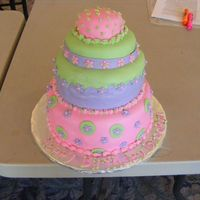 "Baby Diva  This was a first birthday cake- just white and chocolate layres covered in buttercream and then fondant. The smash cake was a 3""..."