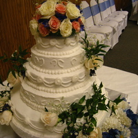 My First Wedding Cake This was my sister's wedding cake and it came out gorgeous. She loved it!