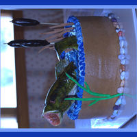 Bass Fish Groom's Cake Was asked to make a fish themed Groom's Cake. This is the result of many hours looking through everyones pictures here on CC! Thanks...